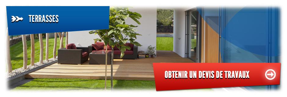 devis pour la cr ation de terrasses en bois ou en pierres. Black Bedroom Furniture Sets. Home Design Ideas