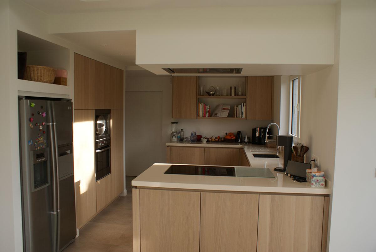 Une cuisine moderne et fonctionnelle - Cuisine pratique et fonctionnelle ...