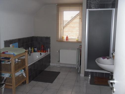 r novation d 39 une salle de bain avec douche italienne. Black Bedroom Furniture Sets. Home Design Ideas